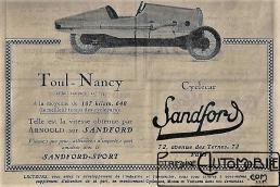 Sandford-doc-5-300x200 Sandford Type FT5 de 1934 Cyclecar / Grand-Sport / Bitza Divers