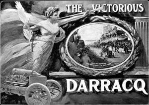 1905 Vanderbilt Cup Race V Hemery Darracq 1er