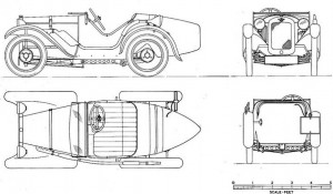 Austin 7 uslter dessin