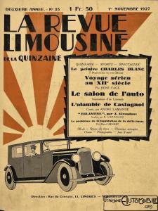 """La-Revue-limousine-1927-2-225x300 Lorraine-Dietrich millésime 1927 dans """"La revue Limousine"""" article sur Lorraine Dietrich 1927 Lorraine Dietrich"""