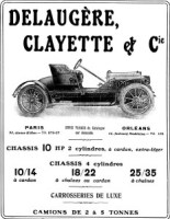 pub-delaugère-et-clayette-232x300 Delaugère et Clayette Type V de 1923 Divers Voitures françaises avant-guerre
