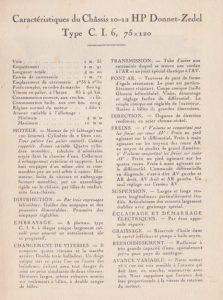 Donnet-Zedel dépliant CI-6 1925 2