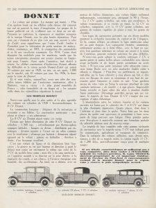 La Revue limousine 1927 Donnet Zedel