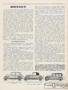 La-Revue-limousine-1927-Donnet-Zedel-225x300 Donnet-Zedel CI-6 Berline de 1925 Divers Voitures françaises avant-guerre