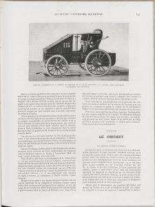 Le Sport universel illustré 1898 2 De Dietrich Amédée Bollée