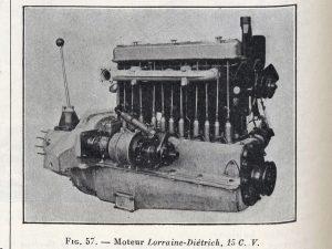 Le génie Civil 03-11-1923, Lorraine Dietrich, la 15 cv moteur
