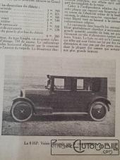 """Voisin-8hp-4-225x300 Voisin C4, 8 hp dans """"Le Génie Civil"""" du 20/10/1923 Voisin"""