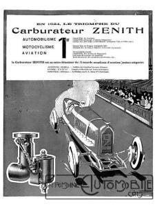carbu-zenith-1924-pub-225x300 Comment devenir constructeur automobile (d'avant-guerre)? Autre Divers Voitures françaises avant-guerre