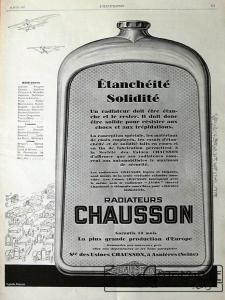 chausson-radiateur-225x300 Comment devenir constructeur automobile (d'avant-guerre)? Autre Divers Voitures françaises avant-guerre