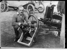 Lombard André sur salmson, Brooklands 1921