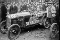 Benjamin 21-5-1923, Bol d'or, Mme Gouraud Morriss sur Benjamin cyclecar, Saint-Germain-en-Laye, circuit des Loges
