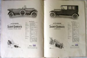 Talbot Darracq 1921 catalogue 5