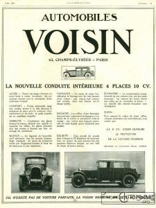 Voisin-10cv-1926-pub-225x300 Avions Voisin 10 Cv (C7) dans le Génie Civil (1925) Voisin