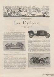 Automobilia-15-02-1920-cyclecars-1-214x300 Les cyclecars (Automobilia du 15/02/1920) 2/2 Cyclecar / Grand-Sport / Bitza Divers