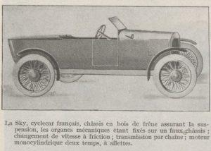 Automobilia-31-01-1920-cyclecars-sky-300x214 Les cyclecars (Automobilia du 31/01/1920) 1/2 Cyclecar / Grand-Sport / Bitza Divers