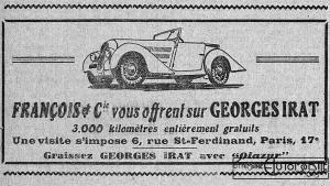 gi-act-franc-1939-300x169 Georges Irat 5 et 6 cv Cyclecar / Grand-Sport / Bitza Divers Georges Irat