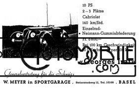 gi-pub-allemande Georges Irat 5 et 6 cv Cyclecar / Grand-Sport / Bitza Divers Georges Irat