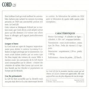cord-l29-fiche-2-300x300 Cord L29 à Epoqu'Auto Divers Voitures étrangères avant guerre
