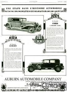 pub-cord-l29-et-auburn-1929-216x300 Cord L29 à Epoqu'Auto Divers Voitures étrangères avant guerre