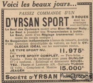pub-dyrsan-1929-300x265 D'Yrsan Grand Sport 1928 Cyclecar / Grand-Sport / Bitza Divers
