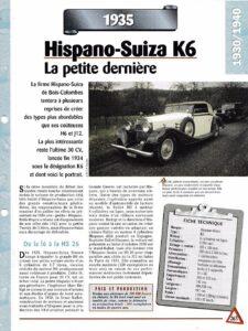 hispano-k6-fiche-1b-225x300 Hispano Suiza K6 cabriolet Vanvooren Divers Voitures françaises avant-guerre