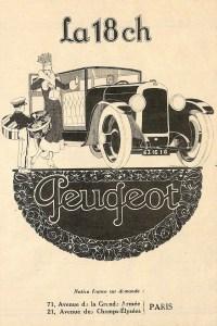 Peugeot-18-Cv-pub-200x300 Peugeot 174 S Torpedo Divers Voitures françaises avant-guerre