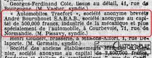 """Le-Temps-02-12-1934-300x115 Tracfort type B1 Sport """" Mouette """" 1934 Divers Voitures françaises avant-guerre"""