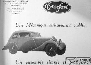 "Tracfort-1-300x214 Tracfort type B1 Sport "" Mouette "" 1934 Divers Voitures françaises avant-guerre"