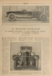 Omnia-juin-1926-Panhard-Levassor-35-cv-1-207x300 Panhard Levassor 35 CV des Records (1926) Cyclecar / Grand-Sport / Bitza Divers Voitures françaises avant-guerre