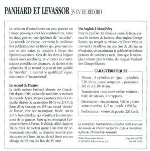 Panhard-Levassor-35-cv-1934-fiche-2-298x300 Panhard Levassor 35 CV des Records (1926) Cyclecar / Grand-Sport / Bitza Divers Voitures françaises avant-guerre