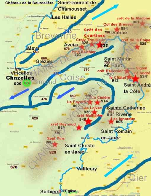 La Ligne De Partage Des Eaux : ligne, partage, Ligne, Partage, Monts, Lyonnais, PATRIMOINE, HISTOIRE, CHAZELLES-SUR-LYON, Alentours