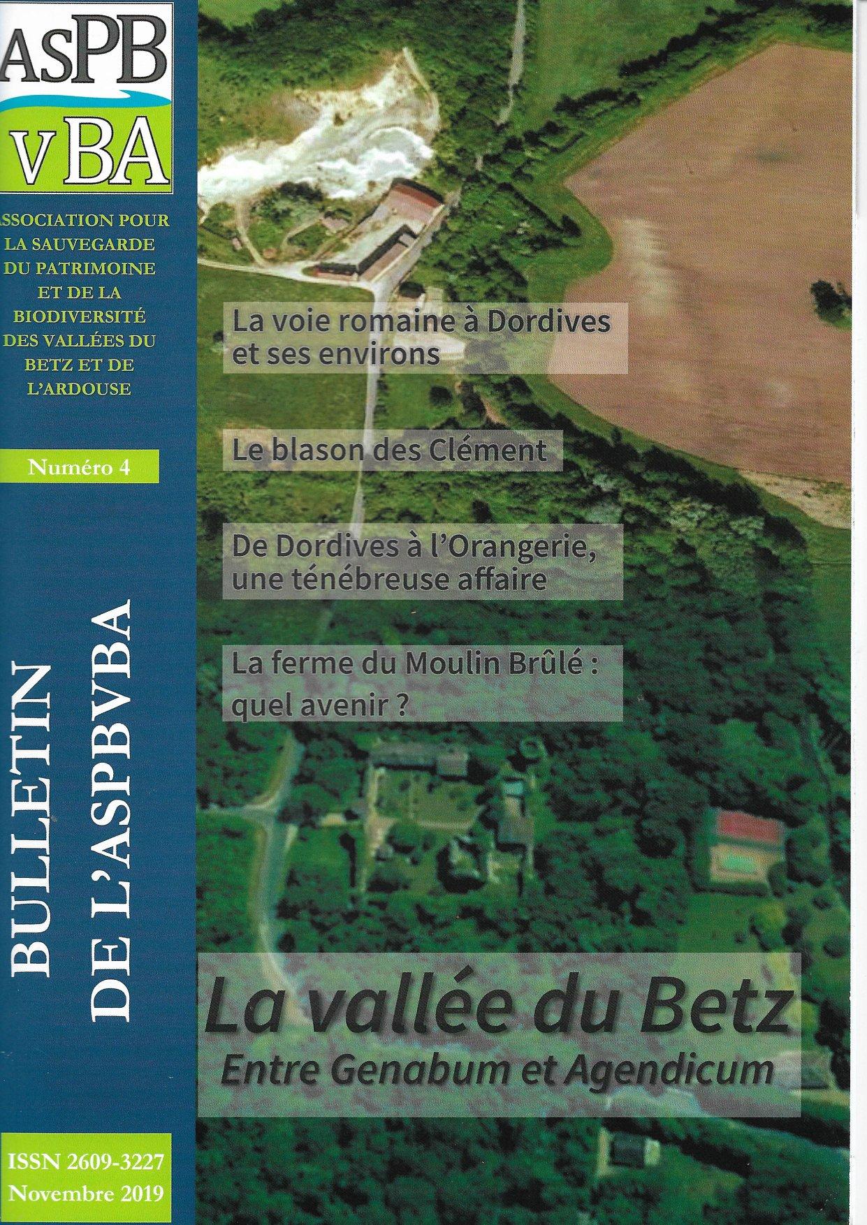 Bulletin n°4 de l'ASPBVBA -  La voie romaine à Dordives et ses environs