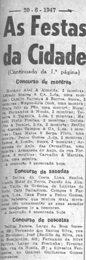 JN19470620 As Festas da Cidade Concurso de cascatas