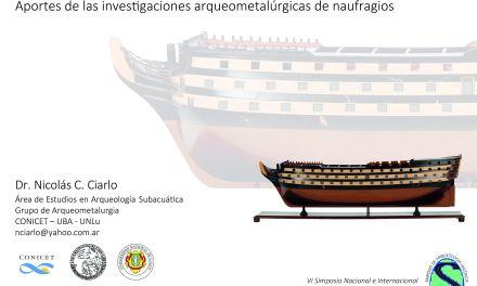 Conferencias sobre estudios arqueométricos en Arqueología Subacuática Aargentina