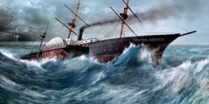 Un huracán hundió el SS Central America en 1857 frente a las costas de Carolina del Sur, rumbo a Nueva York con 21 toneladas de oro a bordo, murieron 425 personas