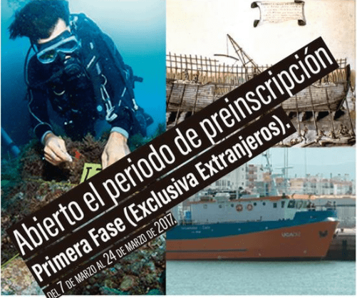 II Máster Oficial en Arqueología Náutica y Subacuática 2017-18