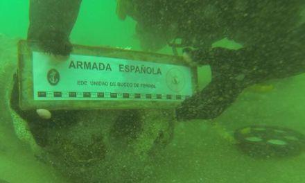 Buceadores de la Estación Naval de A Graña localizan restos de un posible buque del siglo XVIII