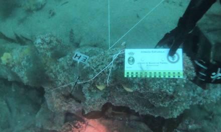 Buceadores de la Armada descubren nuevos restos de patrimonio arqueológico en la ría de Ferrol