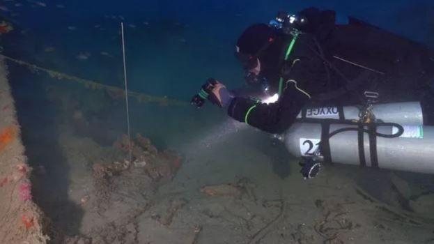 Encuentran un galeón hundido hace 500 años en Italia