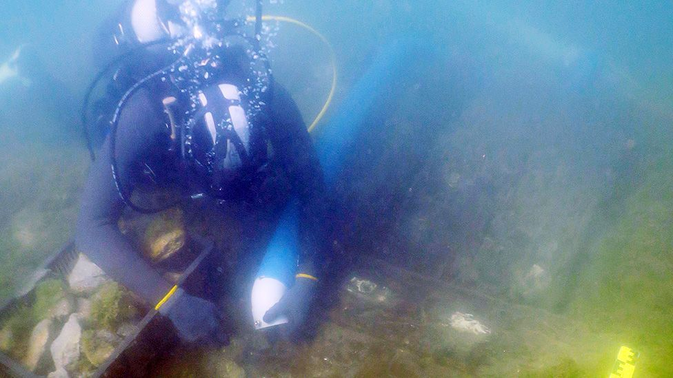 Excitement over wooden shipwreck found in Antigua's seabed