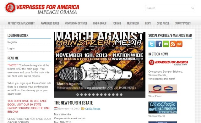 Overpasses for America Joins with Marxists & Anarchists for Media Protest