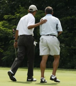 Obama and his ball boy, Boehner