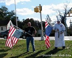 Klansmen protest Obama election in 2008