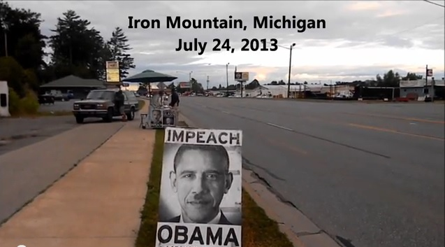An Impeach Obama Protest in Iron Mountain, MI