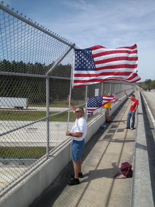 Impeach Obama Overpass Protest in Jacksonville, Florida