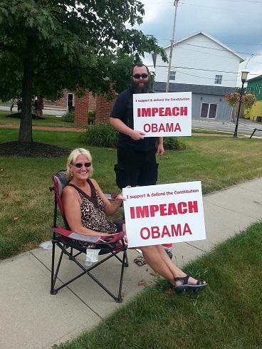Impeach Obama Protest - Enon, Ohio