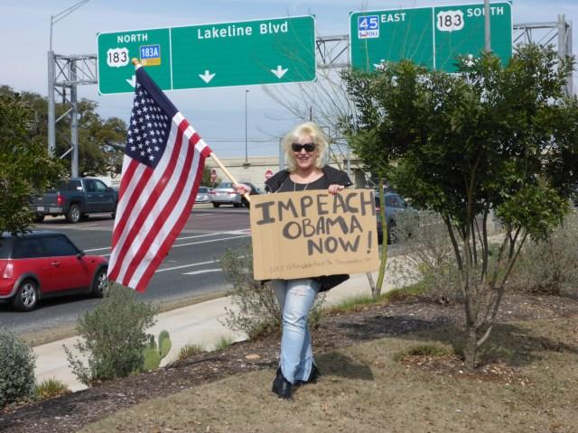 Austin Monthly Impeach Obama Protest