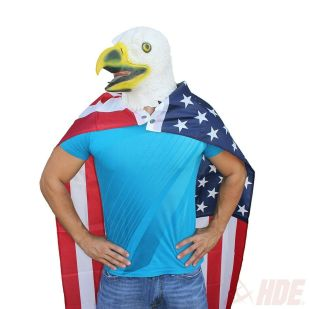 Rubber-Latex-Bald-Eagle-Head-Face-Mask-Patriotic