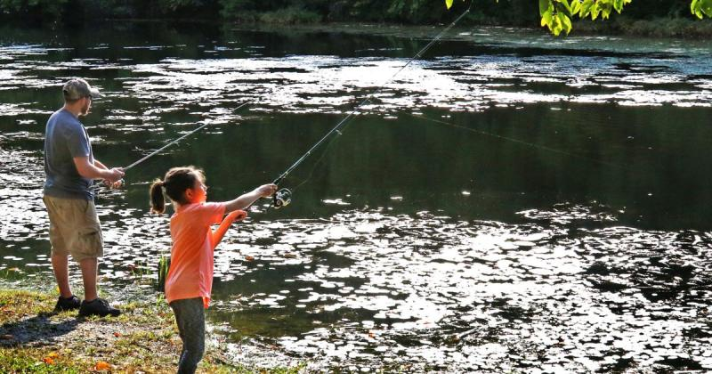 father daughter fishing trip