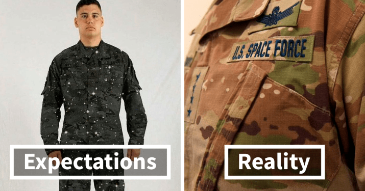 The expected uniform versus what is the real uniform for the Space Force